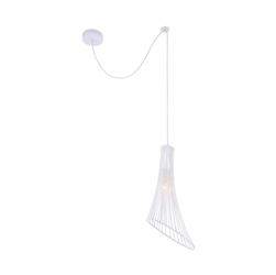 Lampa wisząca pojedyncza, druciana, biała ginger and fred maytoni loft t062-pl-23-w