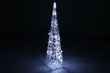 Piramida świąteczna na baterie 30 led chłodna biel, 60 cm