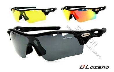 Okulary lozano lz-110 czarne wymienne szkła i polaryzacja