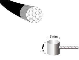 Linka hamulca mars one 1,5 x 1700mm teflon stal nierdzewna -nypel 76