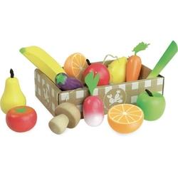 Owoce i warzywa drewniane do zabawy