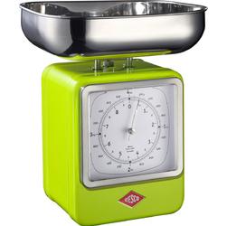 Waga retro kuchenna z zegarem zielona Wesco 322204-20