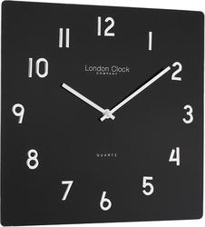 Zegar square glass czarny
