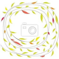 Naklejka tła z kwiatami. ilustracji wektorowych