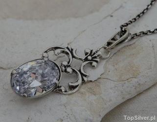 Agira - srebrny wisiorek z kryształem swarovskiego