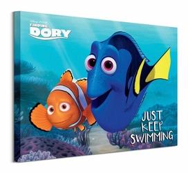 Finding Dory Just Keep Swimming - Obraz na płótnie