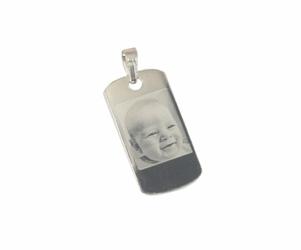 Zawieszka nieśmiertelnik s srebro 925+grawer zdjęcia