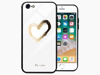 Etui alogy glass armor case do apple iphone 78 serce białe - serce