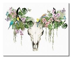 Tropical skull - obraz na płótnie