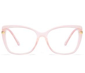 Okulary ochronne do pracy przy komputerze damskie z filtrem blue light zerówki 2549-3
