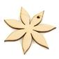 Drewniany kwiatek - zawieszka 7 cm - 02
