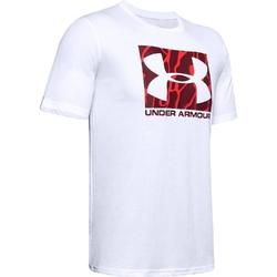 Koszulka męska under armour camo boxed logo ss - biały