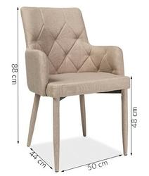 Krzesło tapicerowane do salonu elsa beżowy