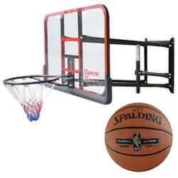Tablica do kosza koszykówki master regulowana z wysięgnikiem + piłka spalding nba platinum streetball outdoor
