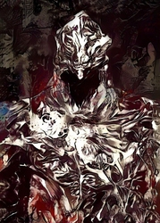 Legends of bedlam - artorias the abysswalker, dark souls - plakat wymiar do wyboru: 29,7x42 cm