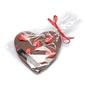 Czekoladowe serce z truskawkami - wyjątkowe serce z mlecznej, intensywnie kakaowej czekolady z dodatkiem truskawek, 100  naturalne składniki, czekolada rzemieślnicza