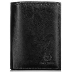 Skórzany portfel męski paolo peruzzi ga172 czarny - czarny