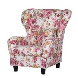 Cork kwiaty fotel z pufą