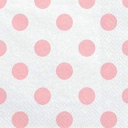 Serwetka do decoupge 33x33 cm - różowe kropki