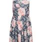 Sukienka z dżerseju z drukowaną koronką bonprix ciemnoniebieski z nadrukiem