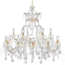 Marietherese lampa wisząca 18 złoty kryształ