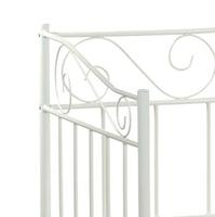 Łóżko metalowe linnea new 90x200 białe