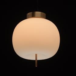 Lampa sufitowa kula szklana, biała led auksis de markt hi-tech 722010101