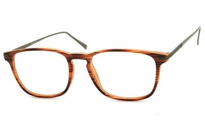 Okulary oprawki korekcyjne nerdy zerówki sunoptic cp144g brązowe - imitacja drewna