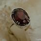 Ares - srebrny pierścień z granatem