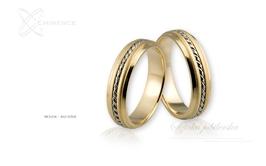 Obrączki ślubne - wzór au-056