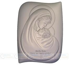 Obrazek bc6467ss2x matka boska z dzieciątkiem 9,6 x 13 cm.