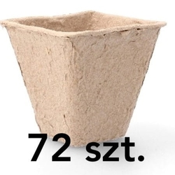 Doniczki torfowe – 72 szt. 5x5 cm