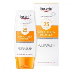 Eucerin sun spf 25 żel-krem do opalania do skóry alergicznej