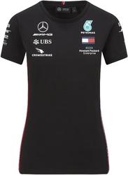 Koszulka damska mercedes amg petronas f1 2020 czarna - czarny
