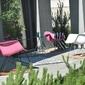 Fotel bujany na taras tunis wood różowy