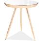 Lustrzany stolik pomocniczy na złotych nogach bora c