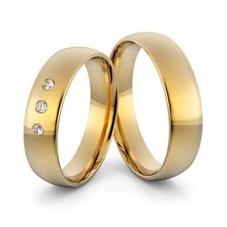 Obrączki ślubne klasyczne zaokrąglone 5 mm