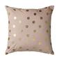 Poduszka różowa gold dots bloomingville