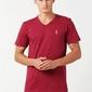 Orlovski v-neck burgund koszulka męska