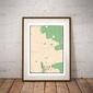 Ząbki mapa kolorowa - plakat wymiar do wyboru: 42x59,4 cm