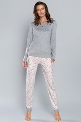Italian fashion lena dł.r. dł.sp. piżama damska