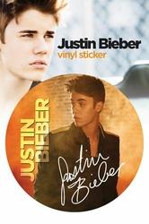 Justin Bieber Signature - naklejka