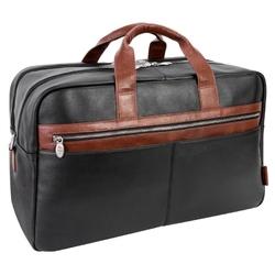 Skórzana torba biznesowa na laptopa mcklein wellington 21 czarna