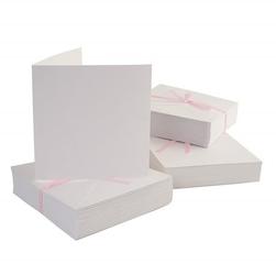 Kartka kwadrat - 10 sztuk białe - BIA