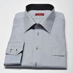 Elegancka szara koszula męska van thorn slim fit  z klasycznym kołnierzykiem 47