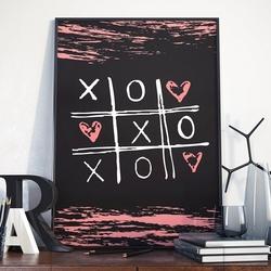 Love game - plakat w ramie , wymiary - 30cm x 40cm, ramka - czarna