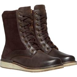 Buty miejskie damskie keen bailey lace boot - brązowy