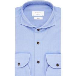 Niebieska koszula profuomo sky blue z kołnierzem z jednego kawałka tkaniny 44