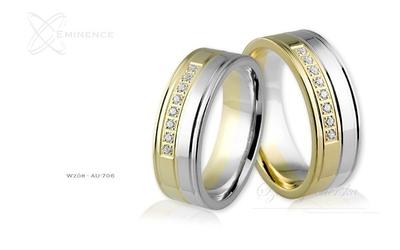 Obrączki ślubne - wzór au-706