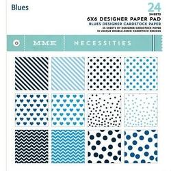 Papier 15,2x15,2cm Blues 24 szt. - BLS
